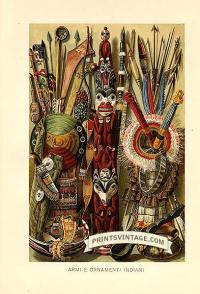 Native American Indian ornaments - Armi e onramenti Indiani