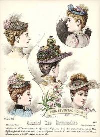 Ladies hats - Double sized print.