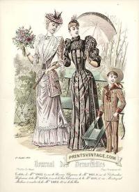 Elegant ladies and boy - Double sized print